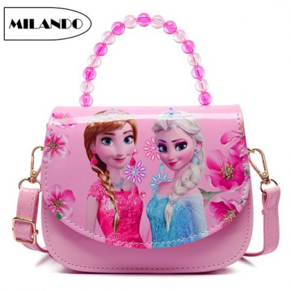 MILANDO Kid Children Girl Handbag Sling Bag Frozen Handbeg (Type 5)