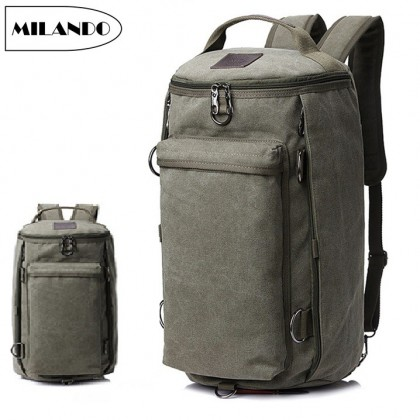 MILANDO 3-Way Carry Men Stylist Anti Theft Travel Laptop Backpack Gym Hiking Bag School Bag (Type 4)