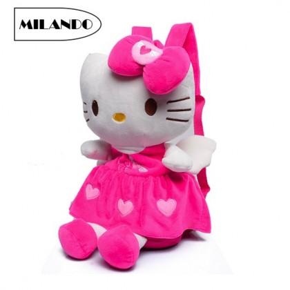 MILANDO Kid 3D Backpack KT Design Soft Fluffy Toodler Kindergarten Toy Bag Beg Sekolah Pre School Bag (Type 4)