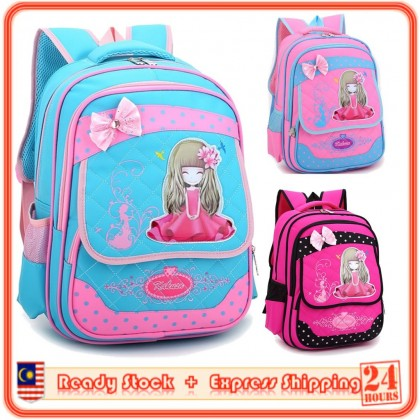 MILANDO Chilren Kid Girl Princess School Bag Backpack Beg Sekolah Bags (Type 3)
