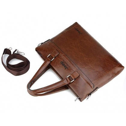 MILANDO Men PU Leather Messenger Bag JEEP Men's Shoulder Business Briefcase (Type 11)
