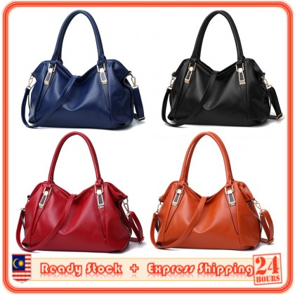 MILANDO Ladies Women PU Leather Handbag  Aged Ladies Casual Fashion Soft Bag Bag Tangan Wanita (Type 29)