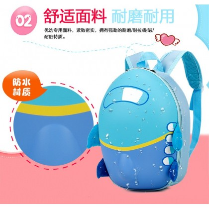 MILANDO Airplane eggshell ABS Hard Case Shell Backpack Pre School Bag Bags Beg children backpack kindergarten (Type 3: Aeroplane)
