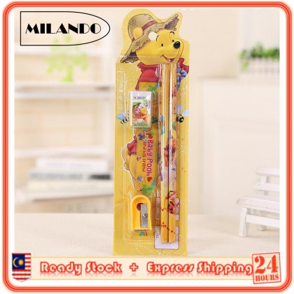 (5 Pieces) MILANDO Kid Children Cartoon School  Stationery Set Gift Present Birthday Party (Type 3)