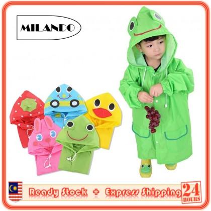 MILANDO Rain Coat Kids Animal Style Children Raincoat Waterproof Cartoon Kids Raincoats (Type 1)