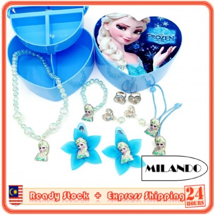 MILANDO Jewelry Set Box Children's Necklace Bracelet Jewelry Wholesale Kid Accessories Set (Type 1)