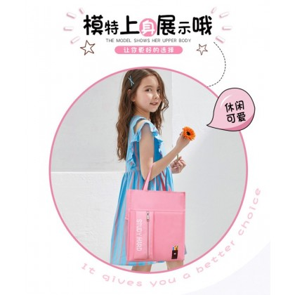 MILANDO Kid Tuition School Bag Carry Bag Cute Cartoon For Kids (Type 7: Pencil)