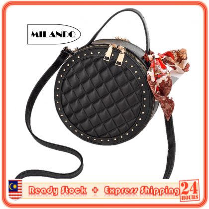 MILANDO Women New Fashion Fashion Shoulder Bag Women Round Shape Shoulder Bag Casual Bag Beg Perempuan  (Type 66)
