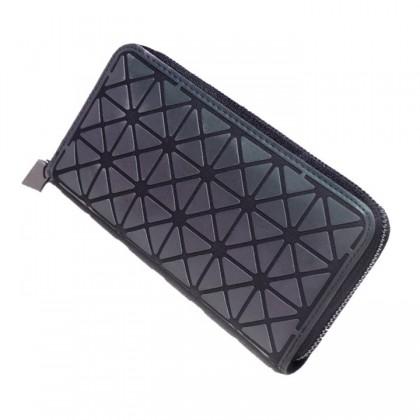 MILANDO Luminous Clutch Wallet Holographic Geometric Purse Long Lattice Handbag Womens Coin Purse with Card Holder (Type 5)