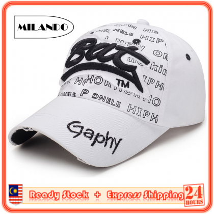 MILANDO Men & Women Stylist  Sport Cap Sun Hat Ladies Outdoor Sport Sun Hat Topi Lelaki Topi Perempuan (Type 19)