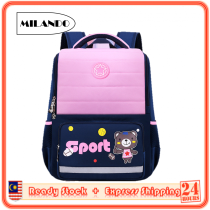 MILANDO Kid School Bag New Arrival High Quality Cartoon School Bag Backpack Bags Beg Sekolah (Type 30)