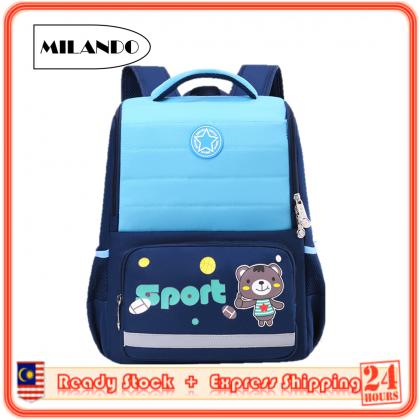 MILANDO Kid School Bag New Arrival High Quality Cartoon School Bag Backpack Bags Beg Sekolah (Type 30)