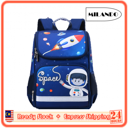 MILANDO Kid Children Big Capacity Duffel School Bag Shoulder Bag Backpack Beg Sekolah (Type 31)