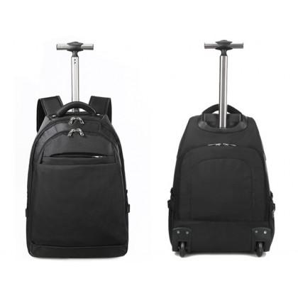 MILANDO Travel Bag Trolley Bag Backpack Solid Color Travel Case Beg Troli (Type 14)