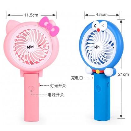 MILANDO Kid Rechargable Hand Fan Usb Charging Cute Mini Portable Travel Fan