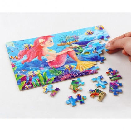 (60 PIECES) MILANDO Kid Toy Jigsaw Puzzle Cartoon Children Education Toy with Box (Type 2)