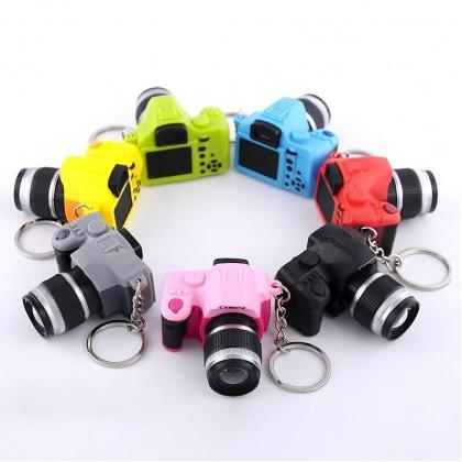 MILANDO Creative SLR Camera Keychain Led Light Emitting Sound Cute Keychain