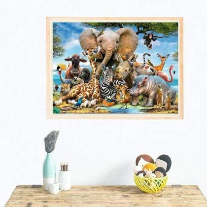 MILANDO Gudi 6615 Jigsaw Puzzle 1000 Pieces Children's Toy (Animal World)