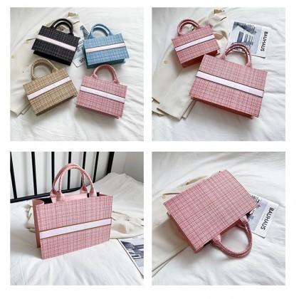 MILANDO Women Shoulder Handbag Tote Bag Summer Picnic Bag Handbeg Wanita (Type 12)