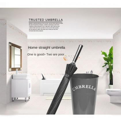 MILANDO Umbrella 24-Bone Long Handle Umbrella Double Long Handle Oversized Black Straight Handle ( Type 2 )