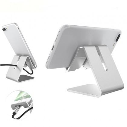 MILANDO Desktop Support Phone Holder Metal Mobile Phone Support Tablet (Phone Holder 3)
