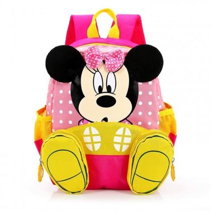 MILANDO Kid Children Micky Mouse School Bag Backpack Kindergarten Bag Bags Beg Tadika (Type 2)