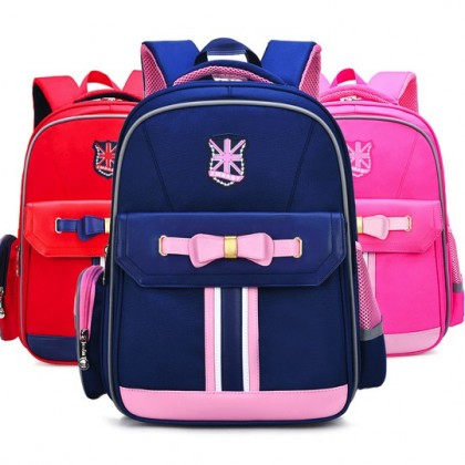 MILANDO Chilren Girl Ribbon European Duffel Hardcase Design School Bag Backpack Bags Beg Sekolah (Type 4)