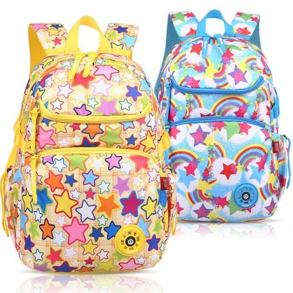 MILANDO Chilren Kid Colourful Rainbow School Bag Backpack Beg Sekolah Bags