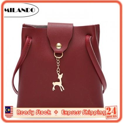 MILANDO Ladies Women PU Leather Dinner Handbag Crossbody Sling Bag Handbeg T.5