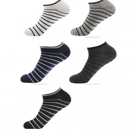 (5 Pairs) MILANDO Unisex Low Ankle Sport Cotton Socks Men High Quality Sock