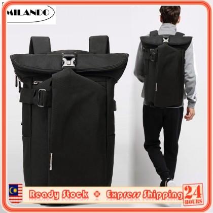 OZUKO Men Stylist Rolltop Anti Theft Travel Laptop Backpack School Bag (Type 3)