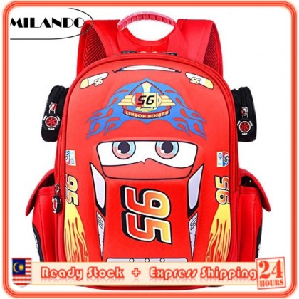 MILANDO Kid Macqueen Cars Car School Kindergarten Bag Backpack Beg Sekolah Bags