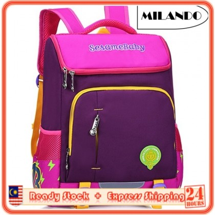 MILANDO Chilren Kid Colourful Duffel School Bag Backpack Beg Sekolah (Type 9)