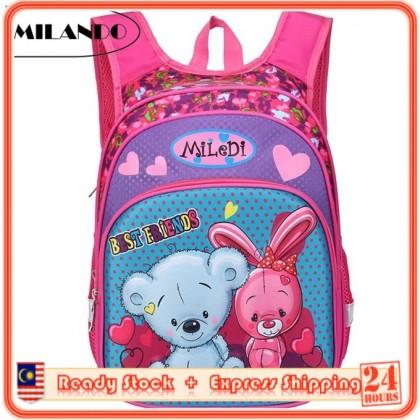 MILANDO Children Kid Russian Style Duffel School Bag Backpack Beg Sekolah Type14