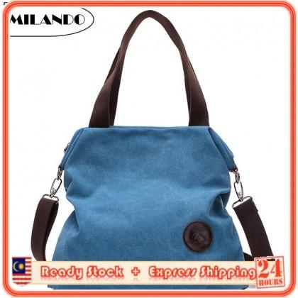 MILANDO Ladies Women Leisure Canvas Bag Tote Bag Handbag handbeg Wanita (Type 4)